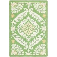 """Safavieh Hand-hooked Chelsea Heritage Green Wool Rug - 1'8"""" x 2'6"""""""