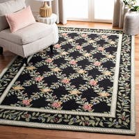 """Safavieh Hand-hooked Garden Trellis Ivory Wool Rug - 5'6"""" x 5'6"""" round"""