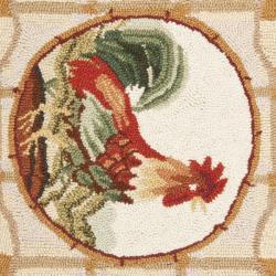 Safavieh Hand-hooked Trellis Ivory Wool Rug (1'8 x 2'6)