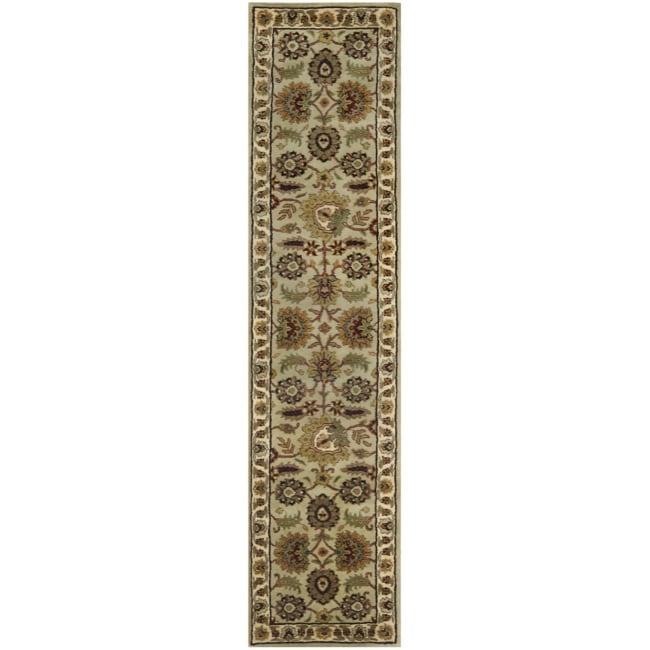 Safavieh Handmade Classic Light Green/ Ivory Wool Runner (2'3 x 12')