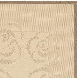 "Safavieh Poolside Natural/Brown Machine-Made Indoor/Outdoor Rug (5'3"" x 7'7"")"