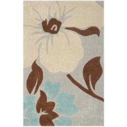 Safavieh Handmade Modern Art Graceful Floral Ivory/ Multicolored Polyester Rug (2'6 x 4')