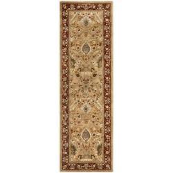 "Safavieh Handmade Persian Legend Ivory/Rust Cotton-Canvas Wool Rug (2'6"" x 8')"