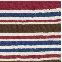 Safavieh Handmade Children's Stripes New Zealand Wool Rug (3' x 5') - Thumbnail 1