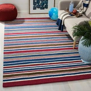Safavieh Handmade Children's Stripes New Zealand Wool Rug (4' x 6')