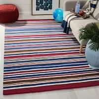Safavieh Handmade Children's Stripes New Zealand Wool Rug - 4' x 6'