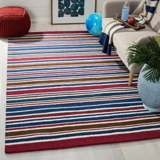 Safavieh Handmade Children's Stripes New Zealand Wool Rug (5' x 8')