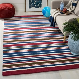 Safavieh Handmade Children's Stripes New Zealand Wool Rug (8' x 10')