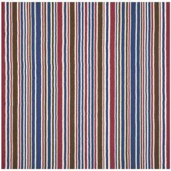 Safavieh Handmade Children's Stripes New Zealand Wool Rug (7' Square)