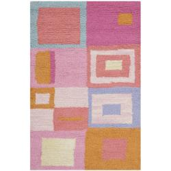 Safavieh Handmade Children's Squares New Zealand Wool Rug (3' x 5')