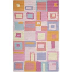 Safavieh Handmade Children's Squares New Zealand Wool Rug (4' x 6')