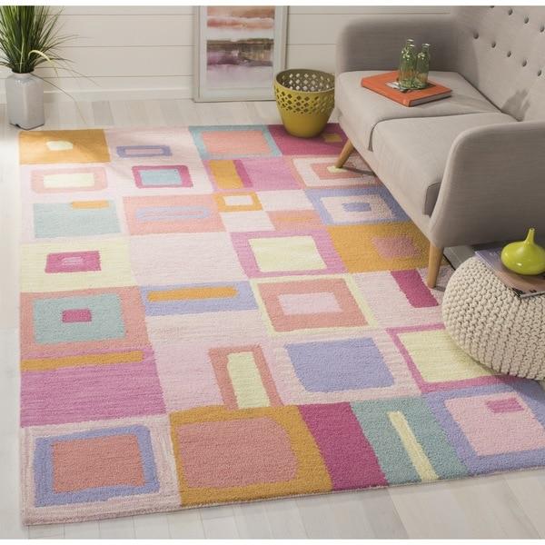 Safavieh Handmade Children's Squares New Zealand Wool Rug (8' x 10')
