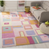 Safavieh Handmade Children's Squares New Zealand Wool Rug - 7' x 7' Square