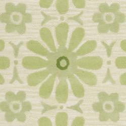 Safavieh Handmade Children's Daisies Green New Zealand Wool Rug (8' x 10') - Thumbnail 2
