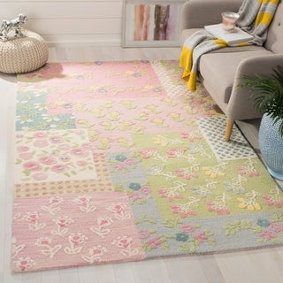 Safavieh Handmade Children's Garden New Zealand Wool Rug (4' x 6')