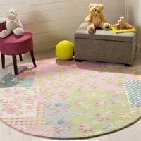 Safavieh Handmade Children's Garden New Zealand Wool Rug (6' Round) - 6'