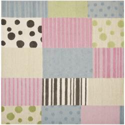 Safavieh Handmade Children's Spaces New Zealand Wool Rug (7' Square)