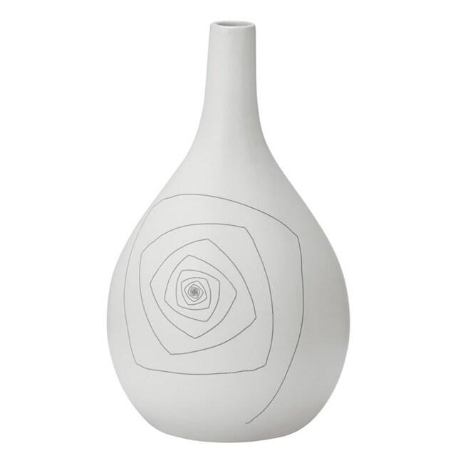 White Blaise Round 10.2-inch Vase