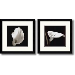 Framed Art Print 'Calla - set of 2' 13 x 13-inch Each