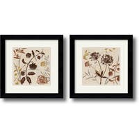 Framed Art Print 'Natural Field  - set of 2' by Lisa Audit 21 x 21-inch Each