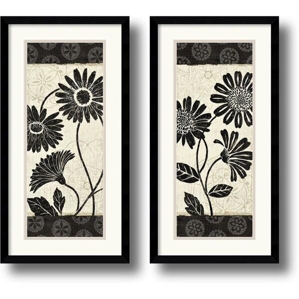 Daphne Brissonnet 'Influence' 2-piece 13 x 25-inch Framed Art Print