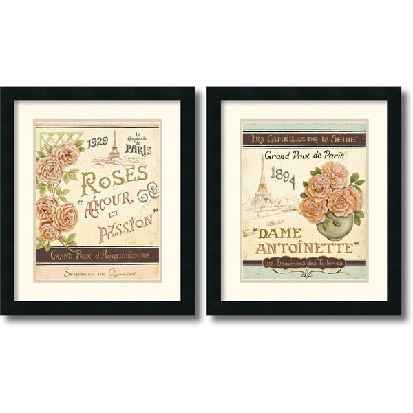 Daphne Brissonnet 'French Seed Packet' 2-piece 17 x 20-inch Framed Art Print