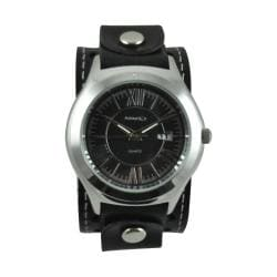 Nemesis Men's Roman Casual Leather Strap Watch