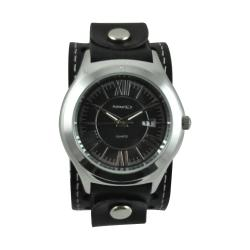 Nemesis Men's Roman Casual Leather Strap Watch