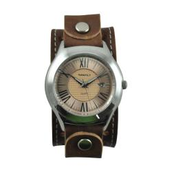 Nemesis Men's Japanese Quartz Roman Casual Leather Strap Watch