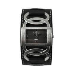 Nemesis Women's Stainless-Steel Cross Arc Watch with Black Strap|https://ak1.ostkcdn.com/images/products/7026324/80/447/Nemesis-Womens-Stainless-Steel-Cross-Arc-Watch-with-Black-Strap-P14531205.jpg?impolicy=medium