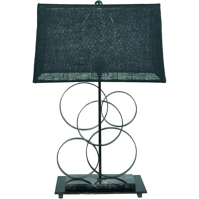 Somette Loopy Metal Goldtone Table Lamp