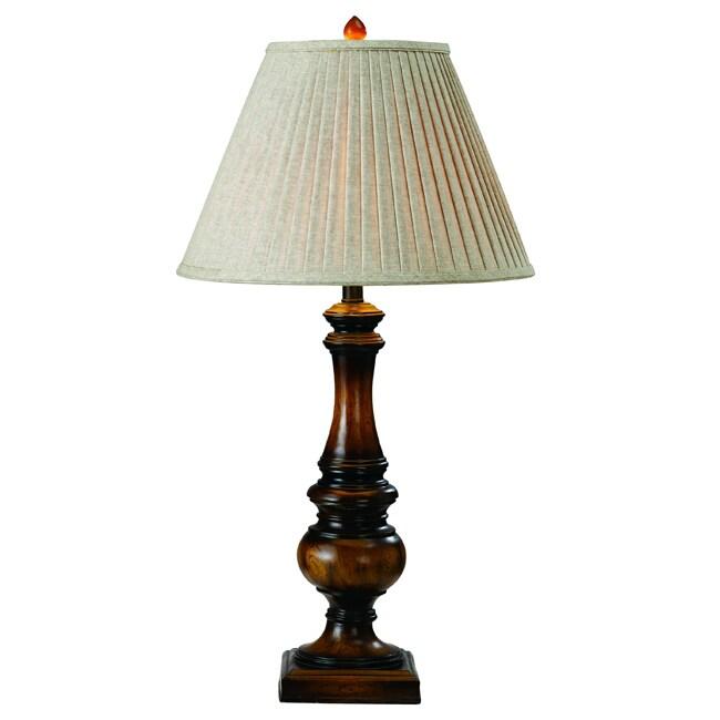 Somette Bellegio Resin/ Woodtone Table Lamp