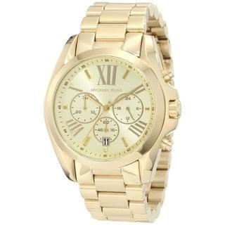 Michael Kors Women's MK5605 Bradshaw Goldtone Chronograph Watch