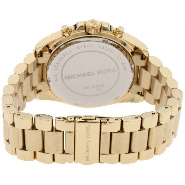 Shop Michael Kors Women's MK5605 Bradshaw Goldtone