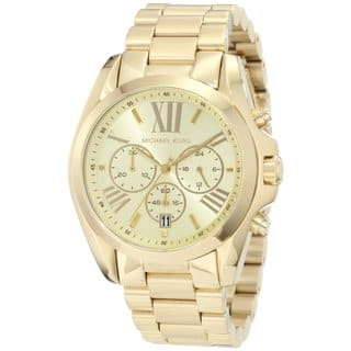 Michael Kors Women's MK5605 Bradshaw Goldtone Chronograph Watch https://ak1.ostkcdn.com/images/products/7026384/P14531237.jpg?impolicy=medium