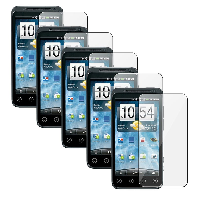 INSTEN Clear Screen Protector for HTC EVO 3D (Pack of 5)