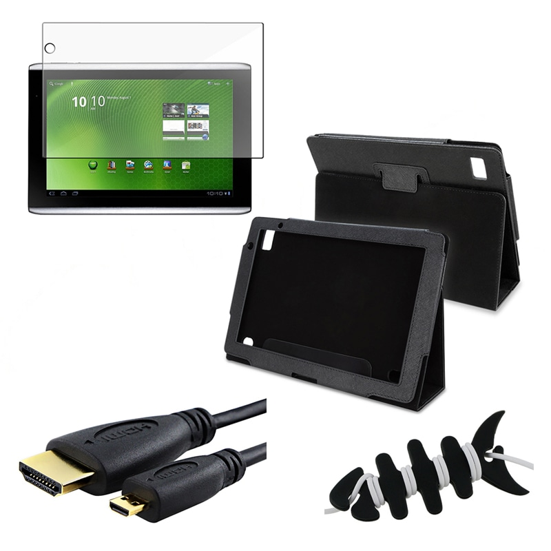 Leather Case/ Protector/ HDMI Cable for Acer Iconia Tab A500