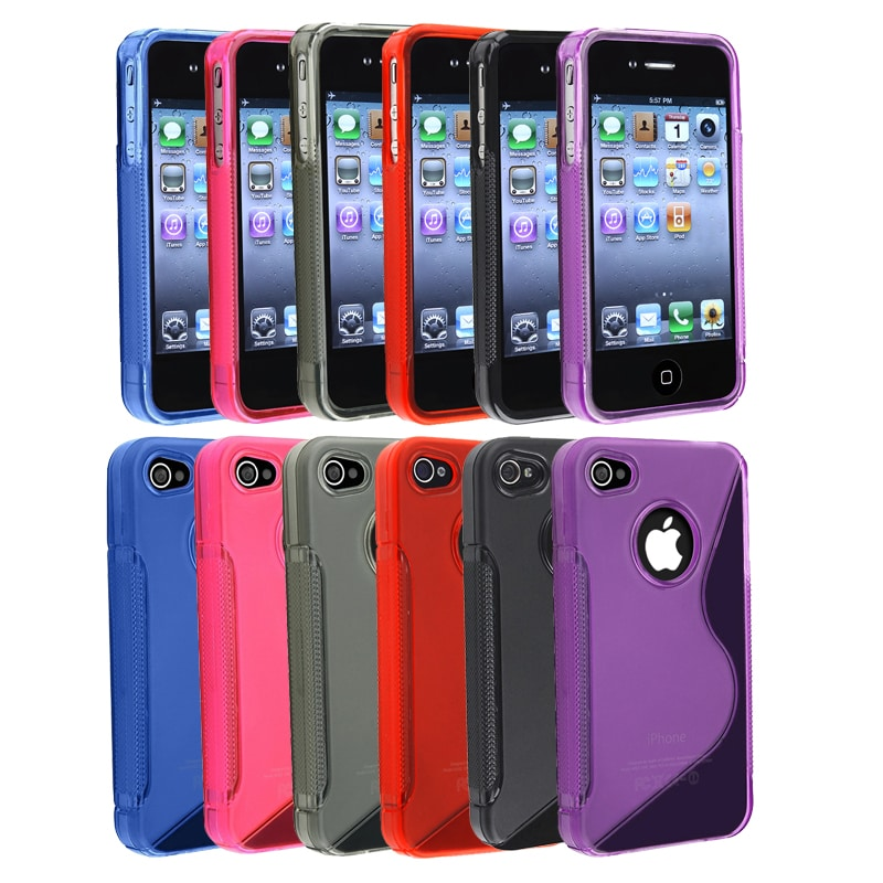 Colorful TPU Rubber Cases for Apple iPhone 4/ 4S (Pack of 6)