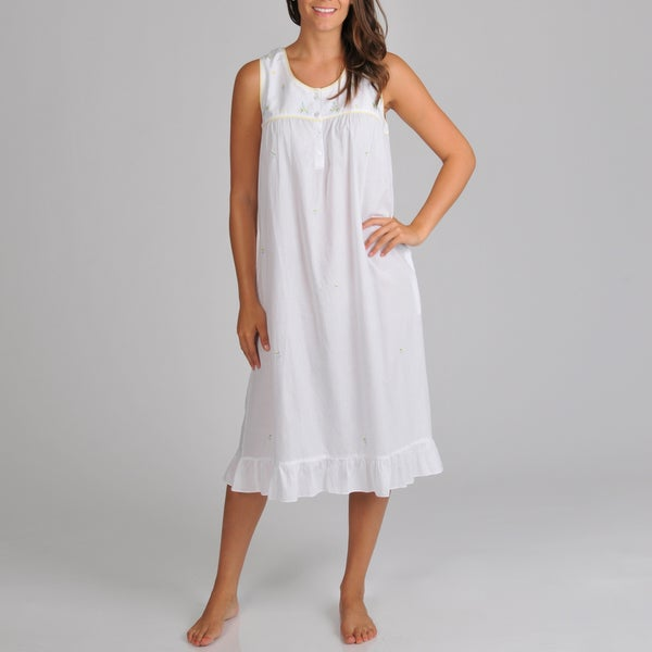 La Cera Women's Sleeveless Nightgown