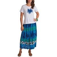 La Cera Women's Tropical Top and Skirt 2-piece Set