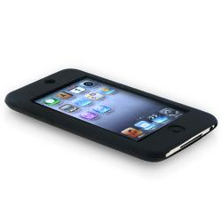INSTEN Black Silicone Case Cover/ Protector for Apple iPod Touch Generation 1/ 2/ 3 - Thumbnail 2