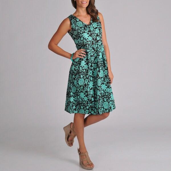 La Cera Women's Sleeveless Print Sundress