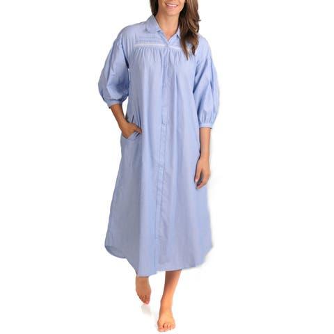 La Cera Women's Chambray Stripe Float Dress