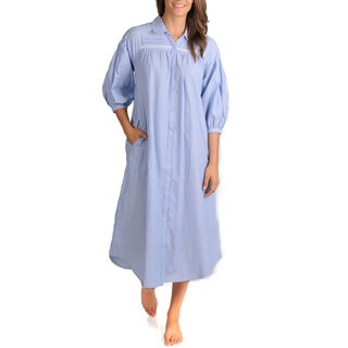 La Cera Women's Chambray Stripe Float Dress