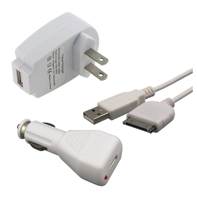 Car Charger/ Travel Charger/ Cable for Sandisk Sansa E200, E250, C200