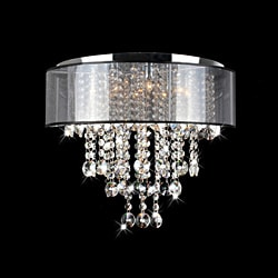 Visalia Chrome 9-light Flushmount Chandelier