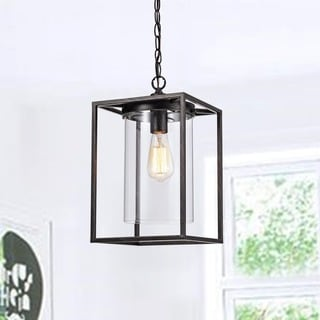 La Pedriza Antique Black Finish Glass Chandelier