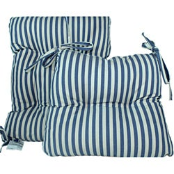 Blue Stripe 2 Piece Rocking Chair Set
