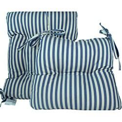 Blue Stripe 2 Piece Rocking Chair Set