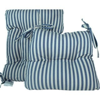 RLF Home Rocker Stripe 2-Piece Rocking Chair Set - Blue